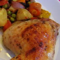Kuře s bramborami a mrkví