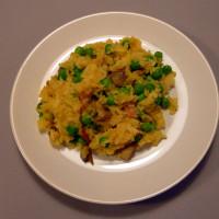 Hráškové rizoto s houbami