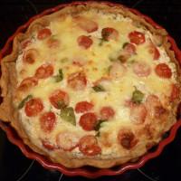 Quiche s rajčaty a mozzarellou